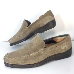 Bruno Magli Grey Suede Driving Shoes Sz 10.5